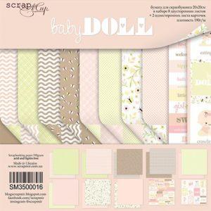 Набор бумаги Baby Doll 20х20 см для скрапбукинга, артикул SM3500016