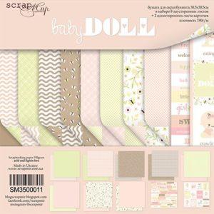 Набор бумаги Baby Doll 30х30 см для скрапбукинга, артикул SM3500011