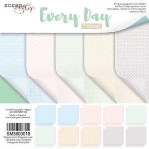 Набор бумаги Every Day (Pastel) 20х20 см для скрапбукинга, артикул SM3600016