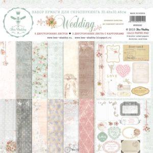 Набор бумаги Wedding Bee Shabby 30х30, артикул 590220