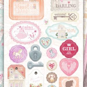 Набор чипборда Sweet Girl Bee Shabby, артикул 630230