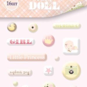 Набор эпоксидных наклеек Baby Doll для скрапбукинга, артикул SM3500015