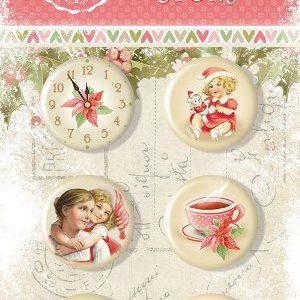 Набор фишек Christmas Story Bee Shabby, артикул 720250