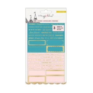 Стикеры Carousel с золотым фольгированием, артикул 379121