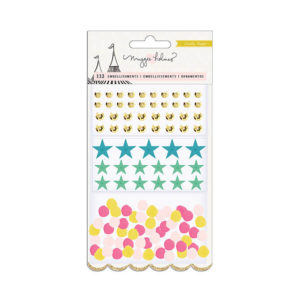 Украшения Carousel пайетки, звезды, помпоны, артикул 379122