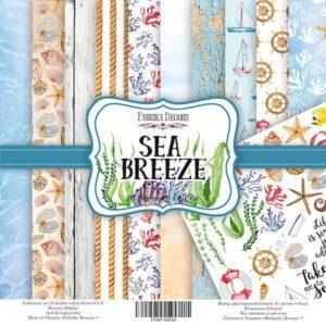 Набор скрапбумаги Sea Breeze 20*20 ТМ Фабрика Декору FDSP-02034