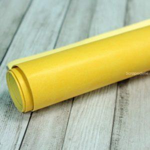 Переплетный кожзам ярко-желтый