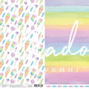 """Лист Вкусняшки коллекция """"Единорожки"""" (un100-03) для скрапбукинга"""