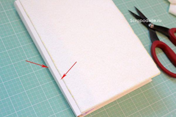 Мягкая обложка для скрапбукинг альбома своими руками, шаг 18