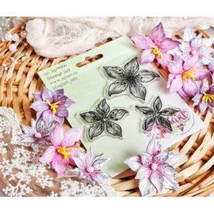 """Набор штампов """"Эльфийские цветы"""" от AgiArt, agi9006"""