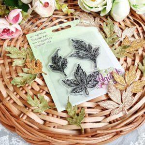 """Набор штампов """"Листья ромашки и анемона"""" от AgiArt, agi9016"""